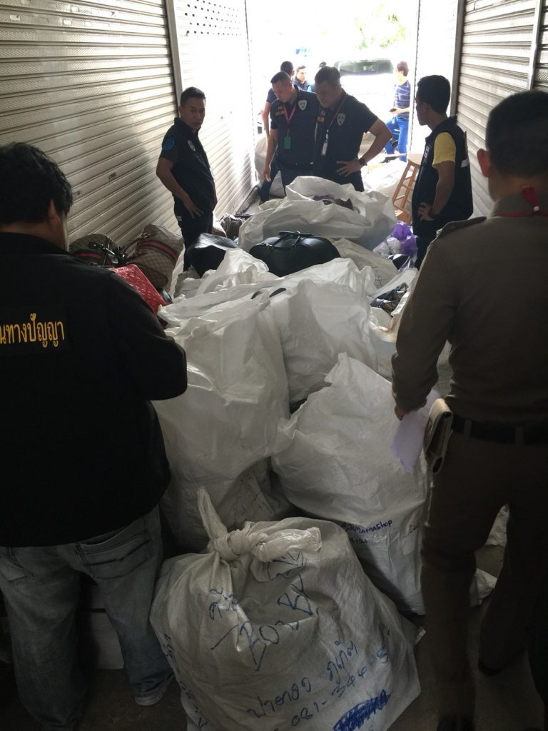 Fake goods seized at a Patong warehouse | News by The Thaiger