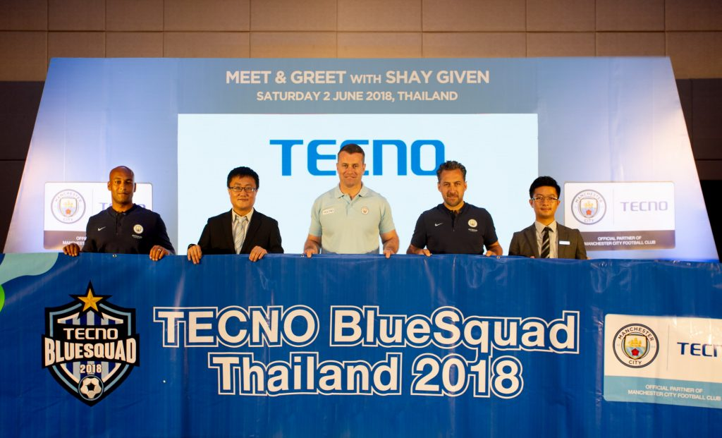 TECNO Mobile and Manchester City Football Club developing Thai youth football talent | News by The Thaiger