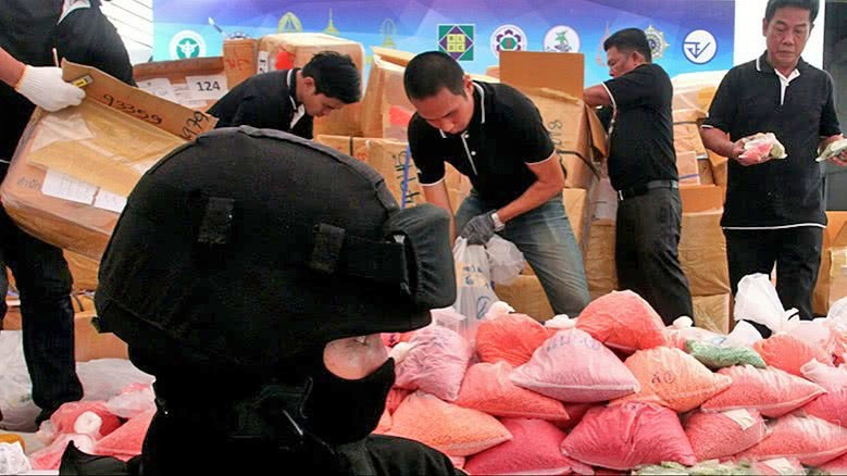 Up in smoke. 61 million meth pills and 486kg of crystal meth.   News by Thaiger