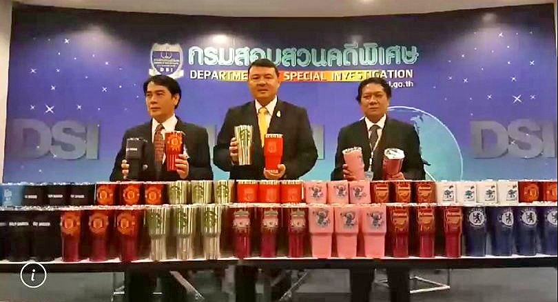 60,000 counterfeit travel mugs seized in BKK raids | News by The Thaiger