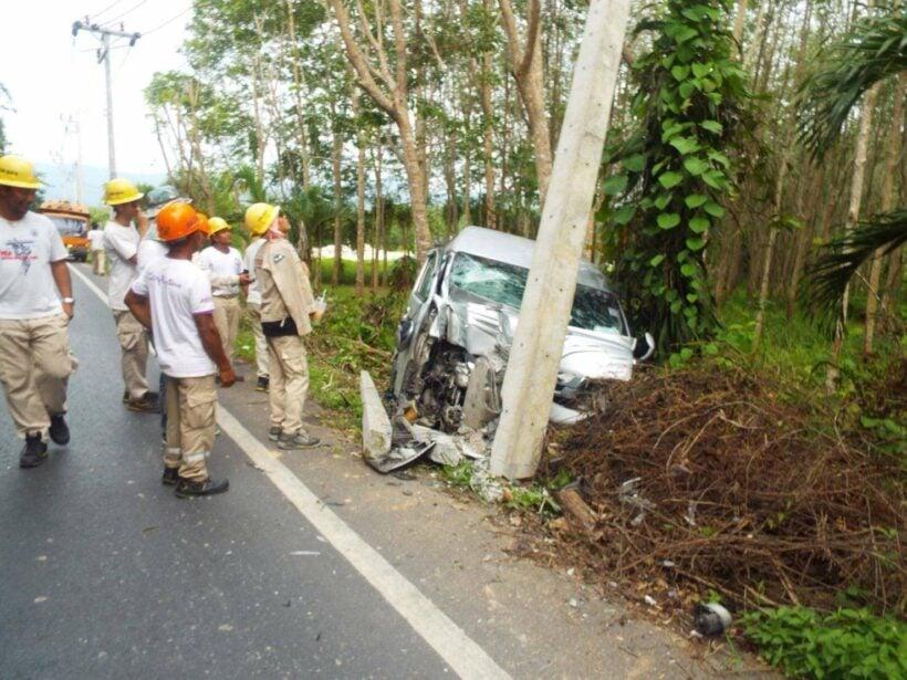Female van driver, Chinese tourists injured in Phuket van crash | The Thaiger
