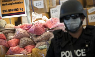 Up in smoke. 61 million meth pills and 486kg of crystal meth. | The Thaiger
