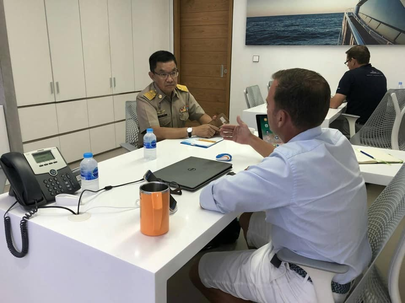 Injured Phuket monkey captured after swimming around Ao Po marina | News by The Thaiger