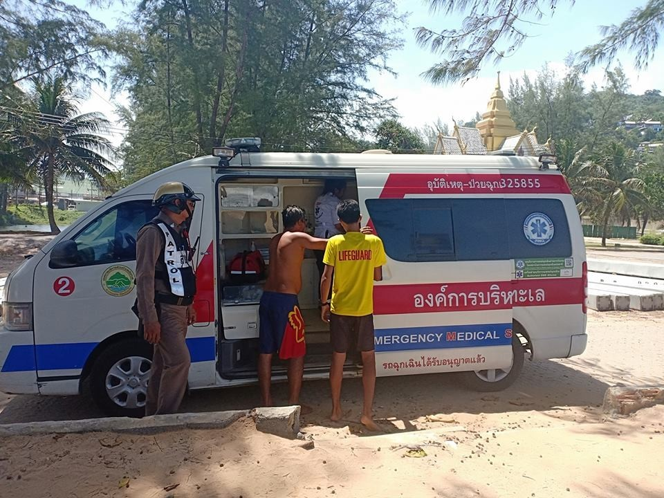 A man was fished out of the Surin Beach surf today - whilst on-duty lifesavers watched | News by Thaiger