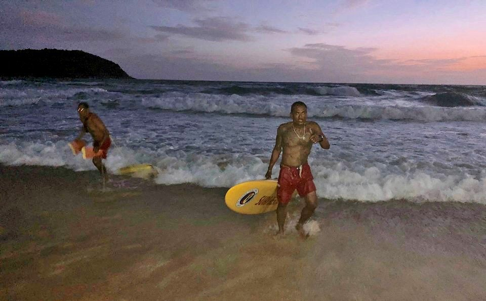 Four Dubai tourists pulled out of the Nai Harn surf | News by Thaiger