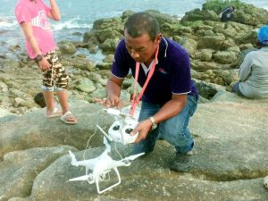Phuket's croc watch takes to the skies over Layan Beach | News by The Thaiger