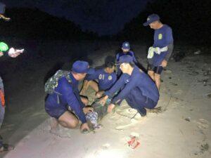 จระเข้ยะนุ้ย จนมุม จับได้บริเวณหัวแหลมเกาะกระทะ – หาดลายัน | News by The Thaiger
