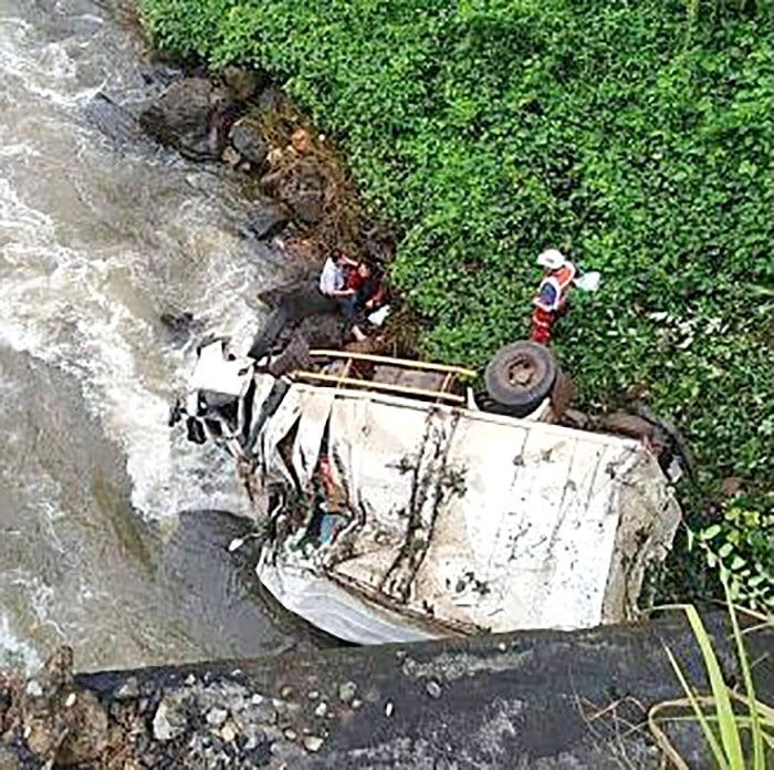 Lao aid truck plunges off bridge - one dead, two injured | News by The Thaiger