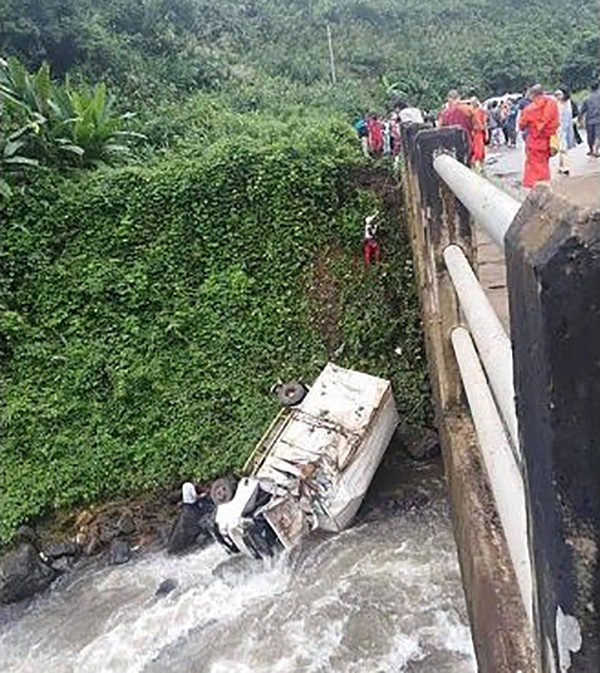 Lao aid truck plunges off bridge – one dead, two injured | The Thaiger