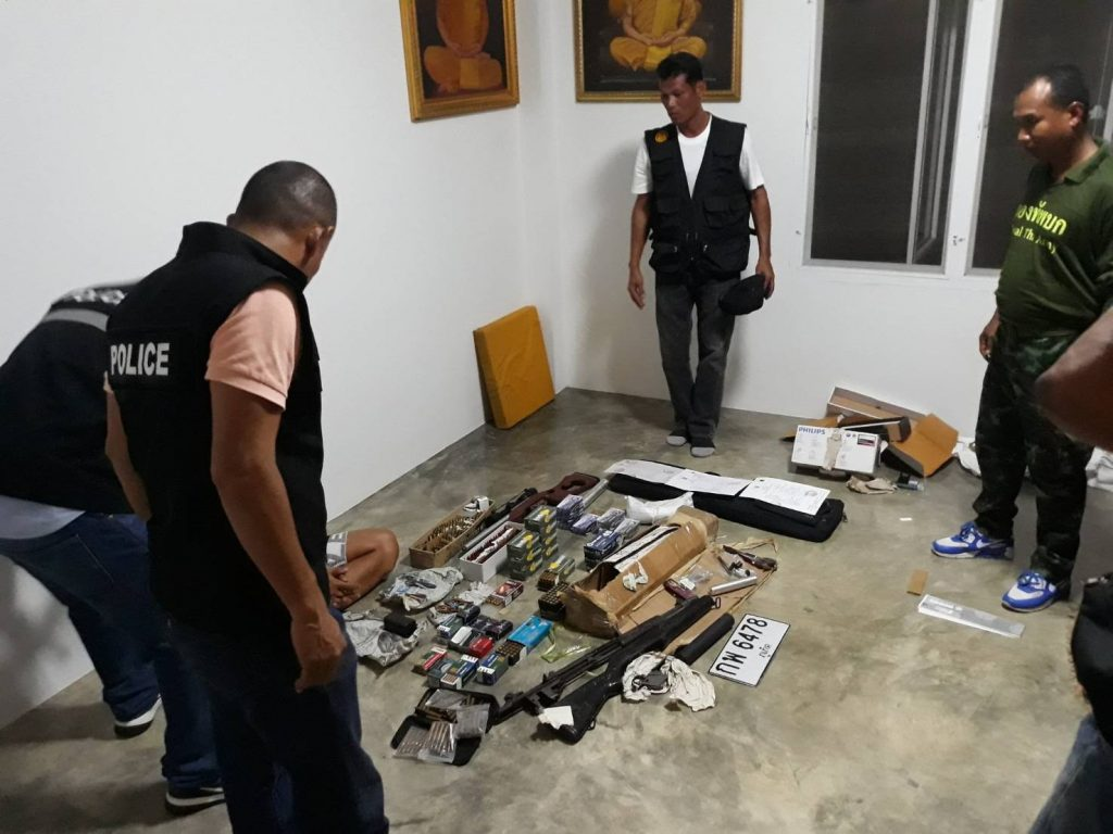 Firearms, ammunition and incendiary devices seized in Phuket   News by Thaiger