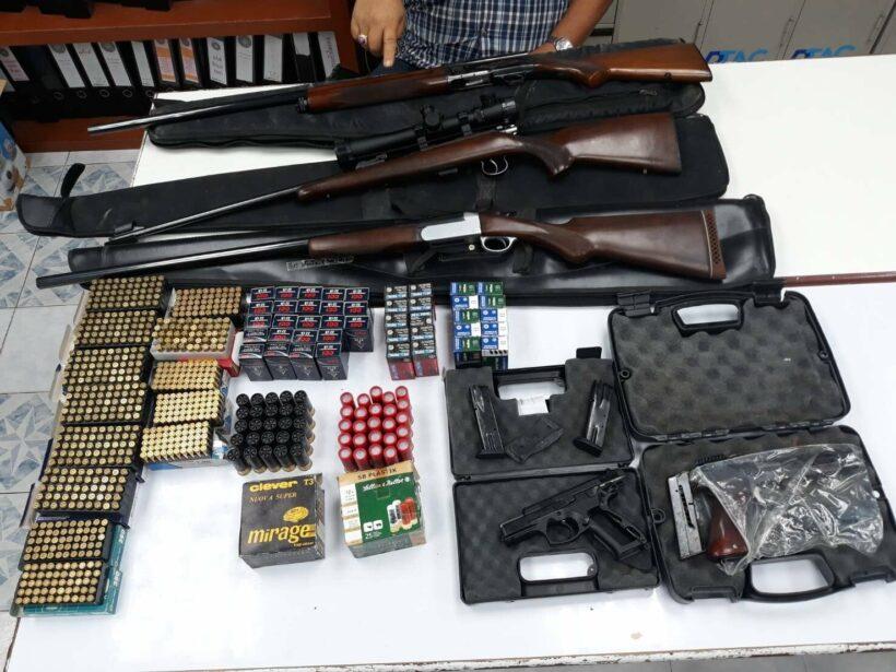 ตะลึง ! ทหาร – ตำรวจ ลุยตรวจยึดอาวุธปืน สงคราม/เครื่องกระสุน ในภูเก็ตจำนวนมาก | The Thaiger