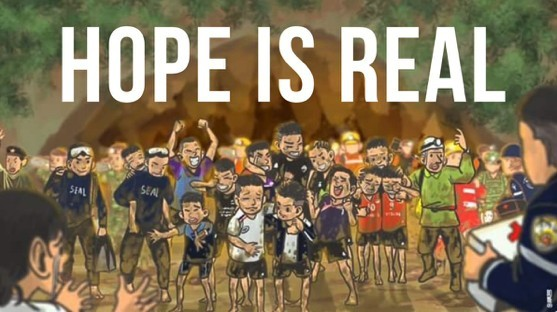 Artwork inspired by the rescue effort in Chiang Rai | News by The Thaiger