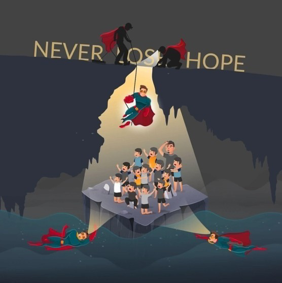 Artwork inspired by the rescue effort in Chiang Rai | The Thaiger