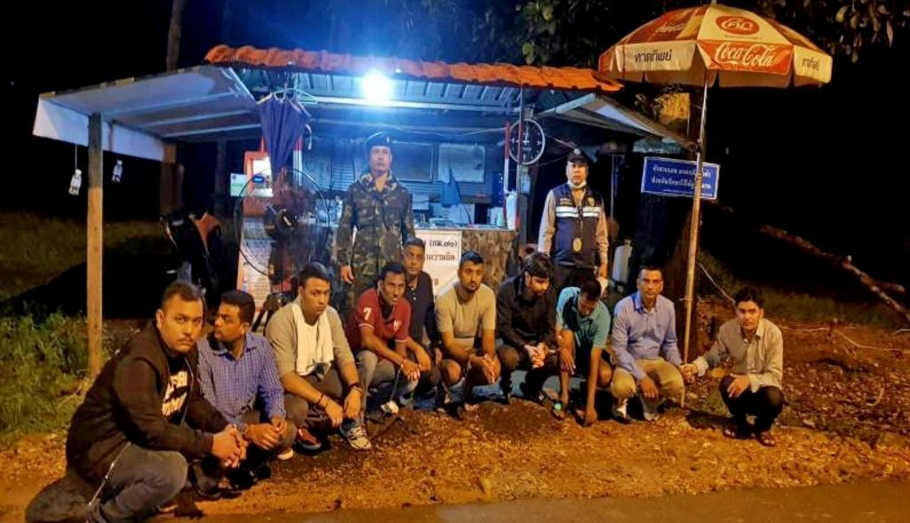 Ranong: Nine Pakistanis arrested for overstay on their way to Ranong | News by Thaiger