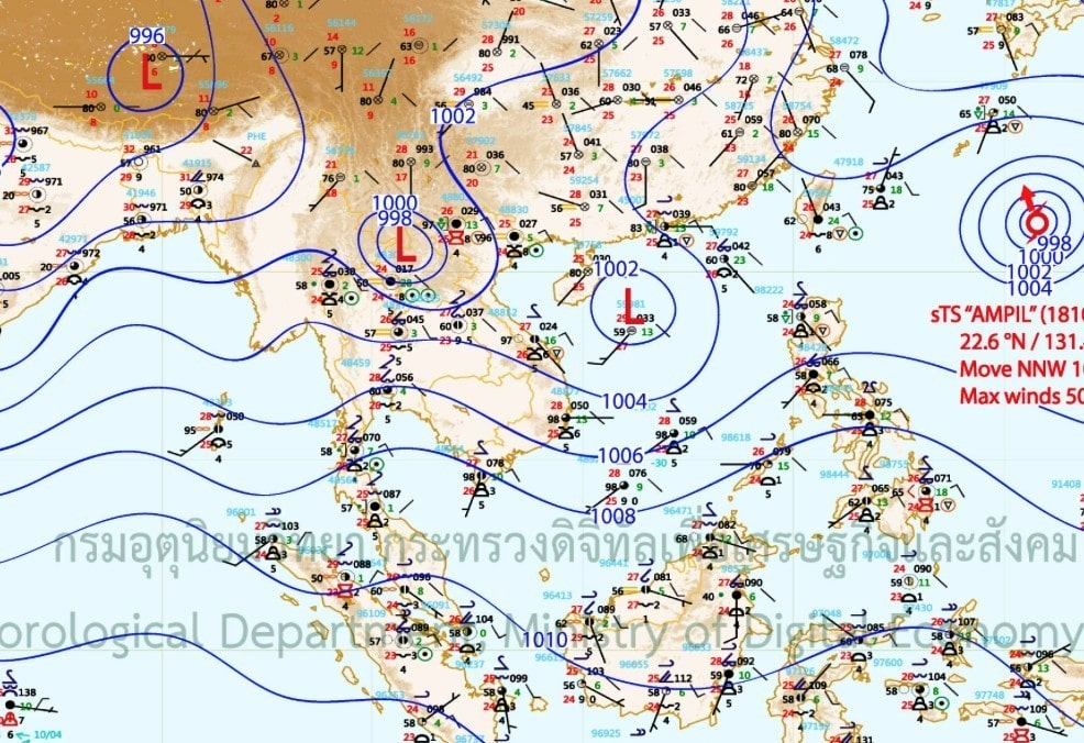 More wind and rain predicted for the North and South | News by Thaiger