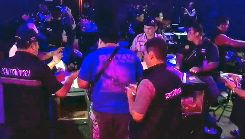 36 suspected drug users nabbed in Pattaya club raid   The Thaiger