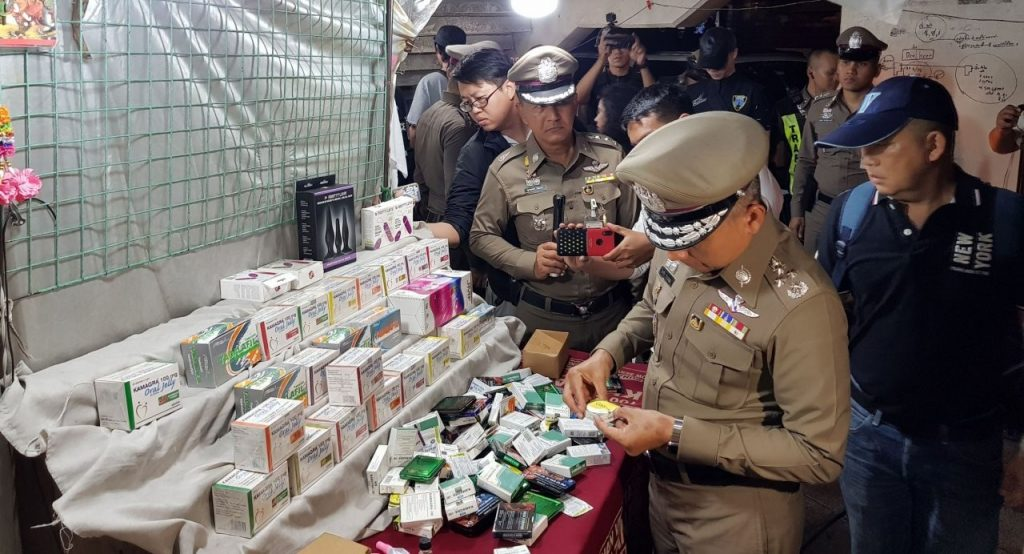 Police find 15 stalls selling illegal 'libido booster' drug in Khlong Toey Nua   News by The Thaiger