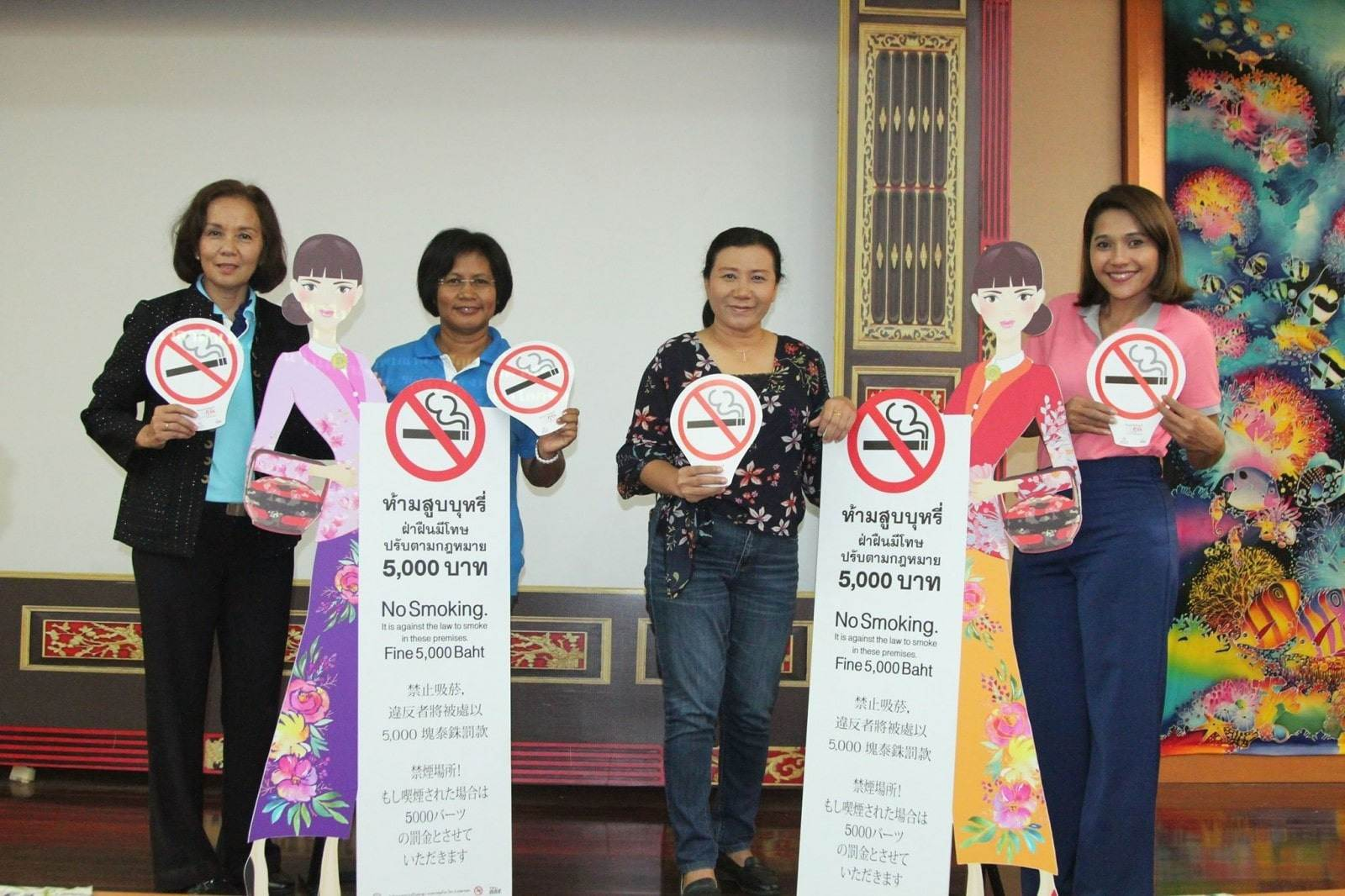 Old Phuket Town Sunday market launches no-smoking campaign | The Thaiger