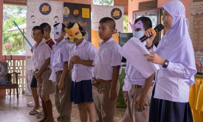 Animal welfare role-play at Ban Konaka school with Soi Dog | The Thaiger