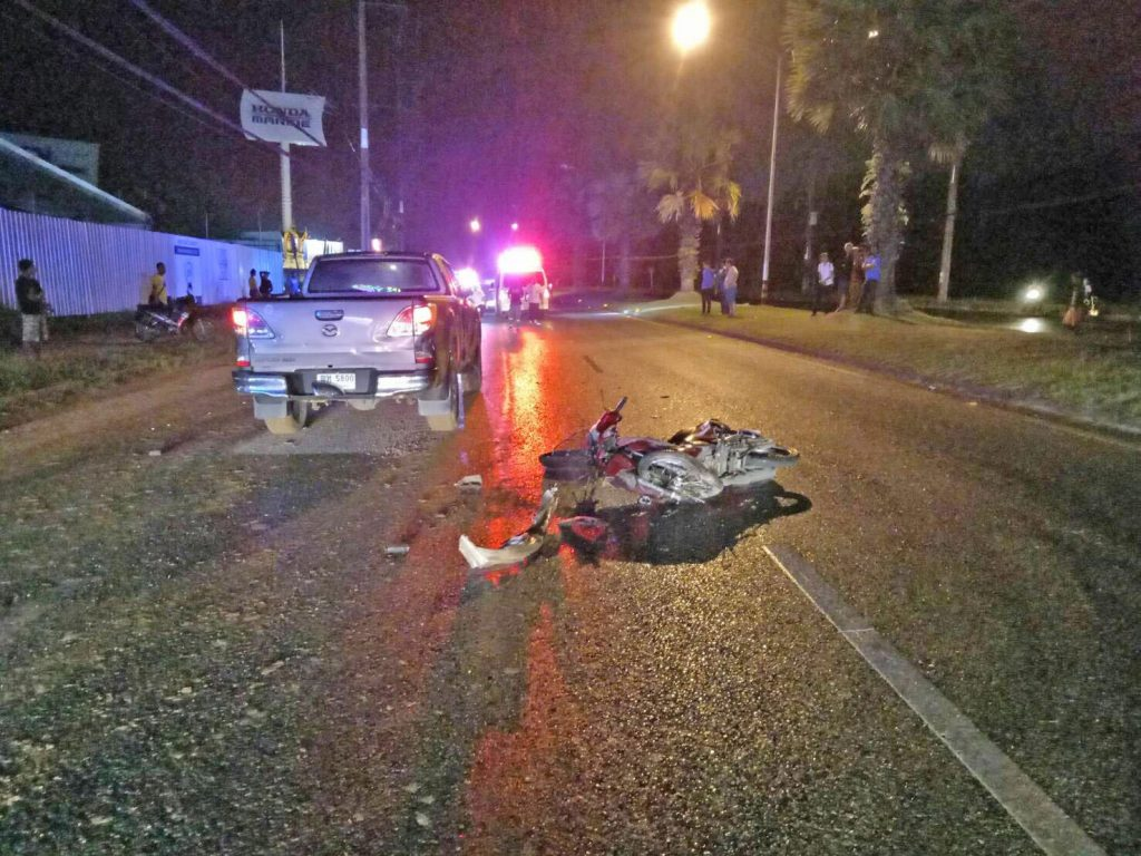 Motorbike driver killed in Thepkasattri road | News by Thaiger