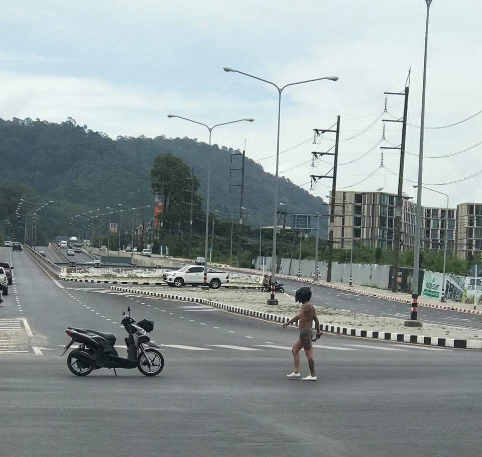 'Intoxicated' man apprehended at Samkong intersection | The Thaiger