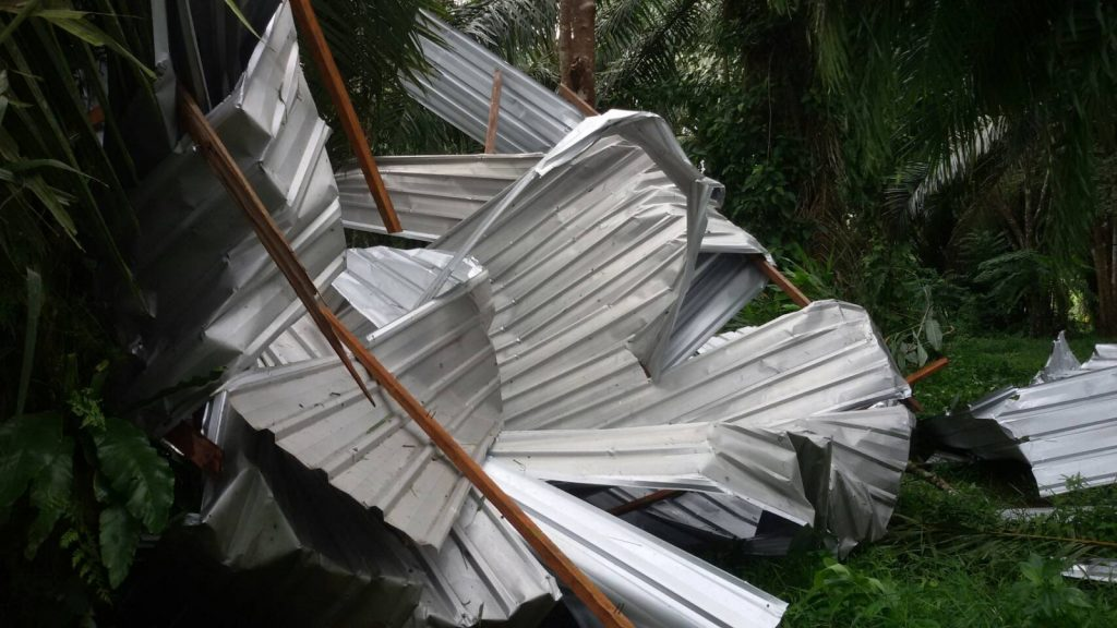 Storm damaged houses and shops in Krabi   News by The Thaiger