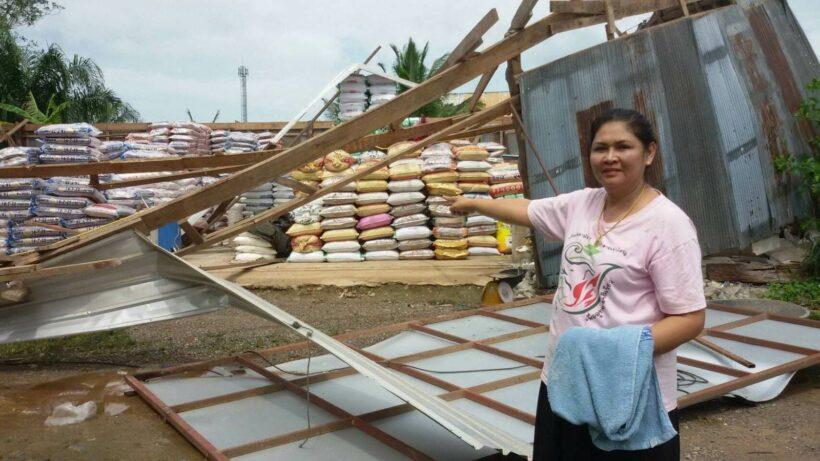 ลมหัวด้วนพัด ร้านขายปุ๋ย อ.ลำทับ บ้านชาวบ้านใกล้เคียง ได้รับความเสียหายหนัก | The Thaiger