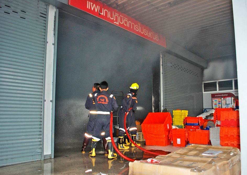 Morning fire at the Chiang Mai post office | News by The Thaiger