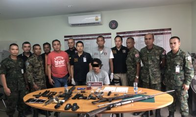 Phuket garage owner arrested with drugs and firearms | The Thaiger