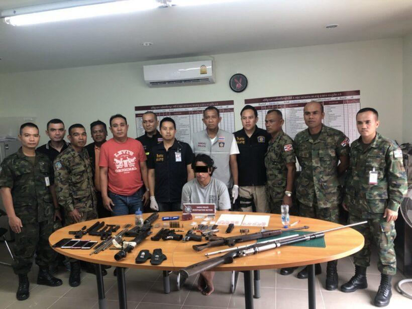 ชุดสืบสวน สภ.สาคู จ.ภูเก็ต บุกจับเจ้าของอู่ซ่อมรถ ยึดทั้งอาวุธปืน ยาเสพติด | The Thaiger