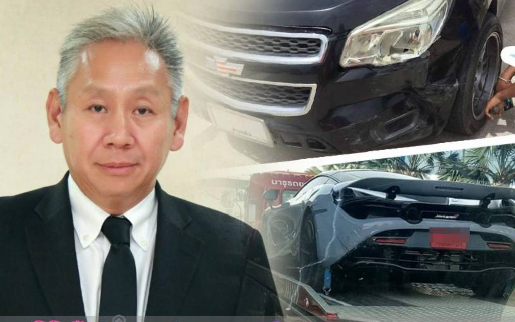 Insurance may not cover the pick-up/super car rear-ender | News by The Thaiger
