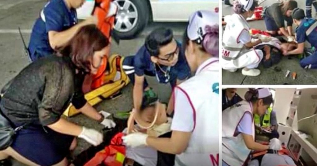 Thai woman takes out guard and four cars after parking fine outside Chiang Mai airport | News by The Thaiger