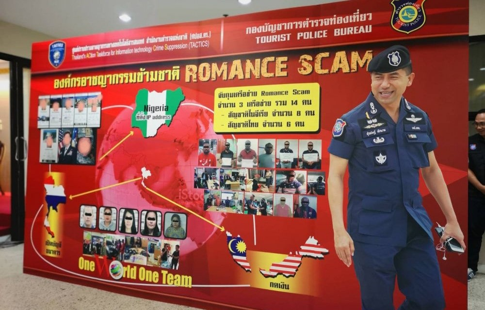 Online romance scam gang busted   The Thaiger