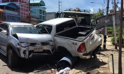 10 vehicle pile up in Krabi | The Thaiger