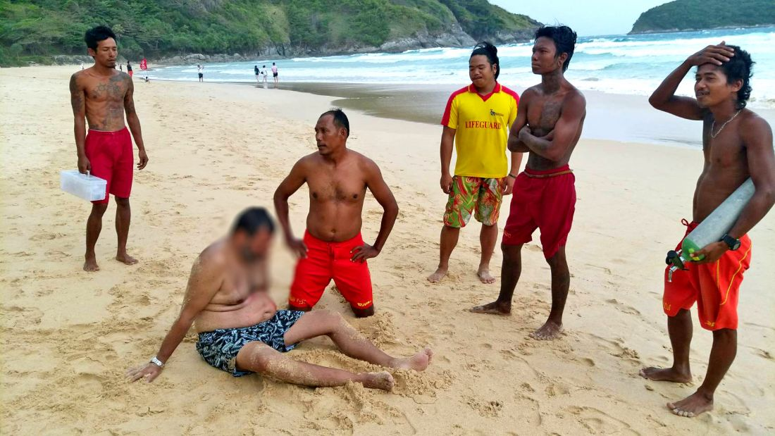 Husband and wife tourists pulled out of the Nai Harn surf | The Thaiger