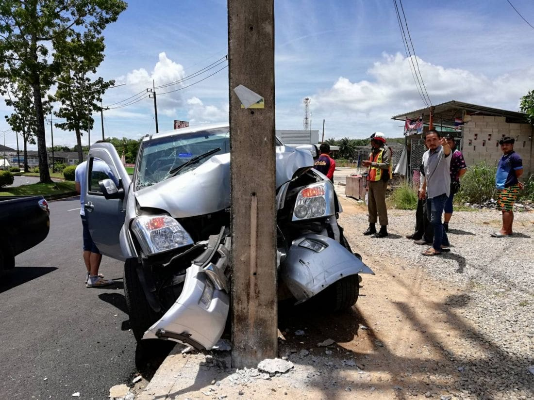 Drivers survive a Krabi road incident | The Thaiger