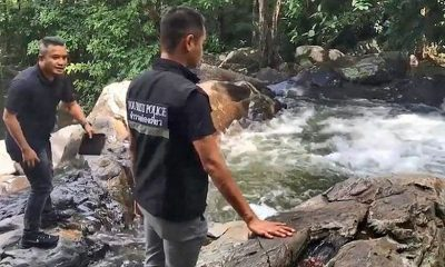 Suspect questioned in alleged waterfall murder in Hat Yai | The Thaiger
