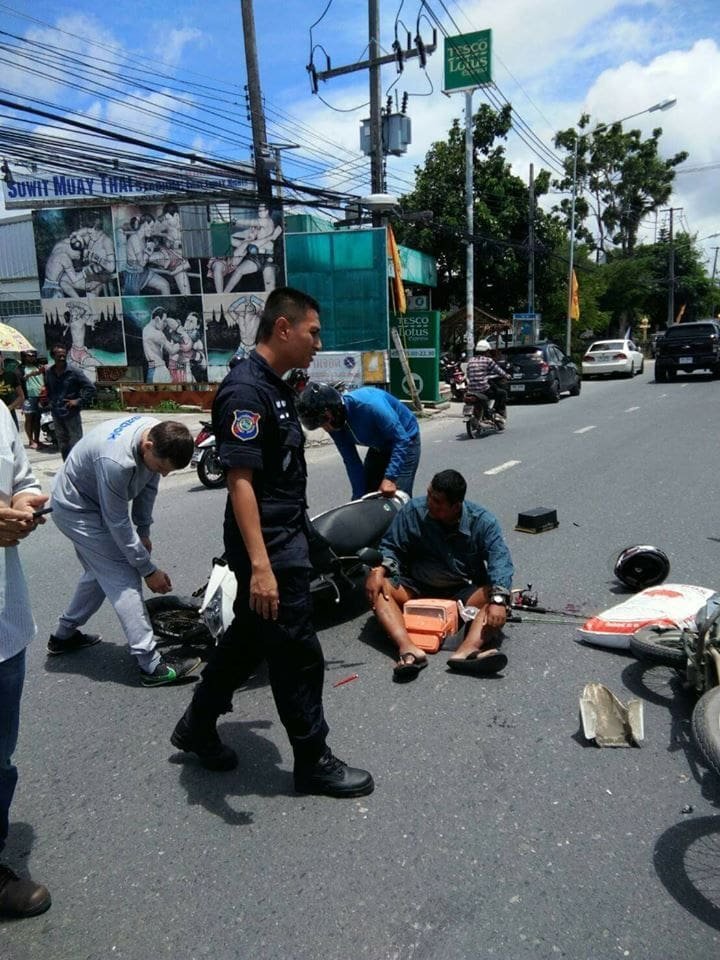 Phuket Tourist Police stop to help at a road accident | The Thaiger