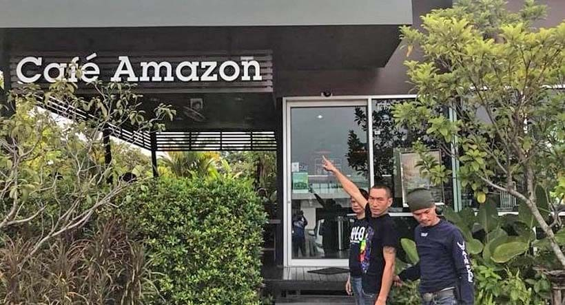 A man who really likes his coffee - Amazon thief surrenders to police   News by The Thaiger