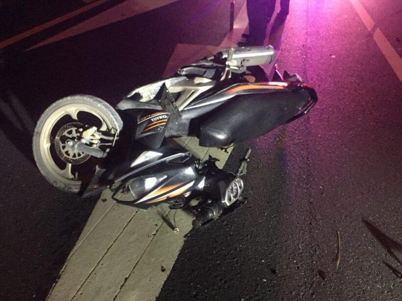 หนุ่ม-สาวชาวเชียงใหม่ขับรถจักรยานยนต์เสียหลักชนเสาไฟริมถนนบายพาสดับคาที่   News by The Thaiger