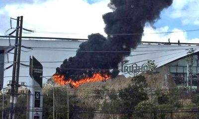Central's new volcano goes up in flames   The Thaiger