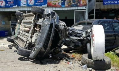 Two injured, three vehicles damaged in jealous chase – Krabi | The Thaiger