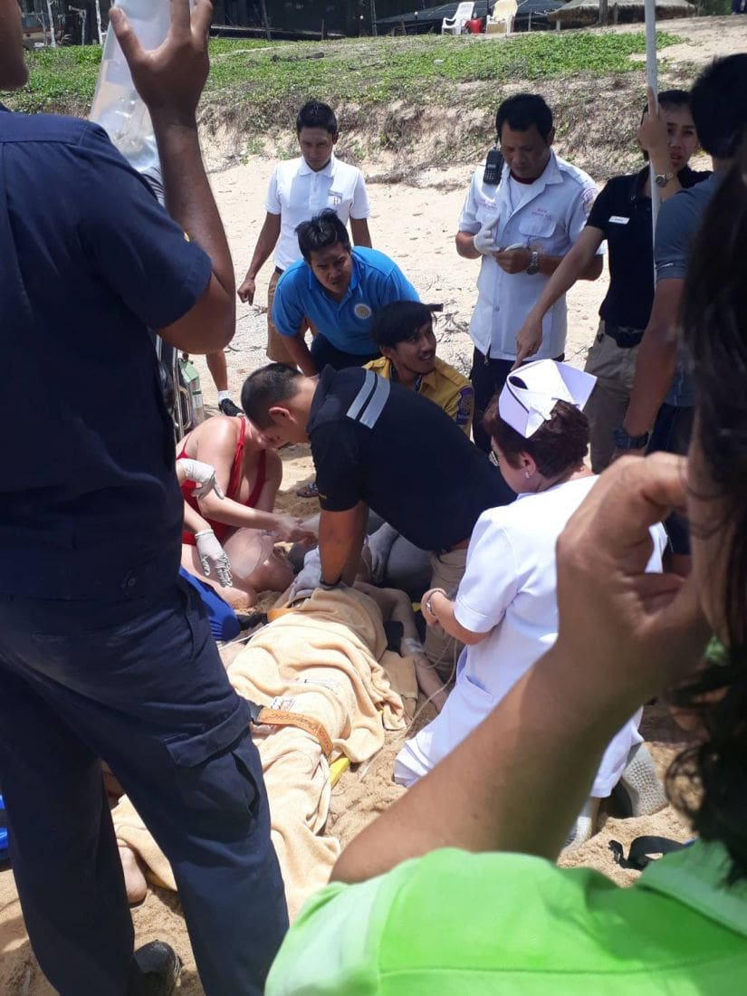 Chinese tourist in coma after being rescued from surf at Mai Khao Beach   The Thaiger