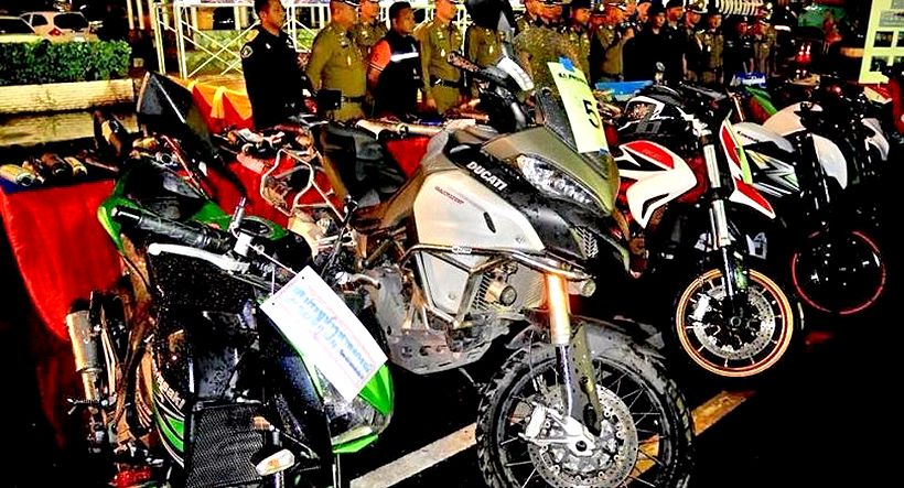 Pathum Thani street racers arrested for modifying bikes | The Thaiger