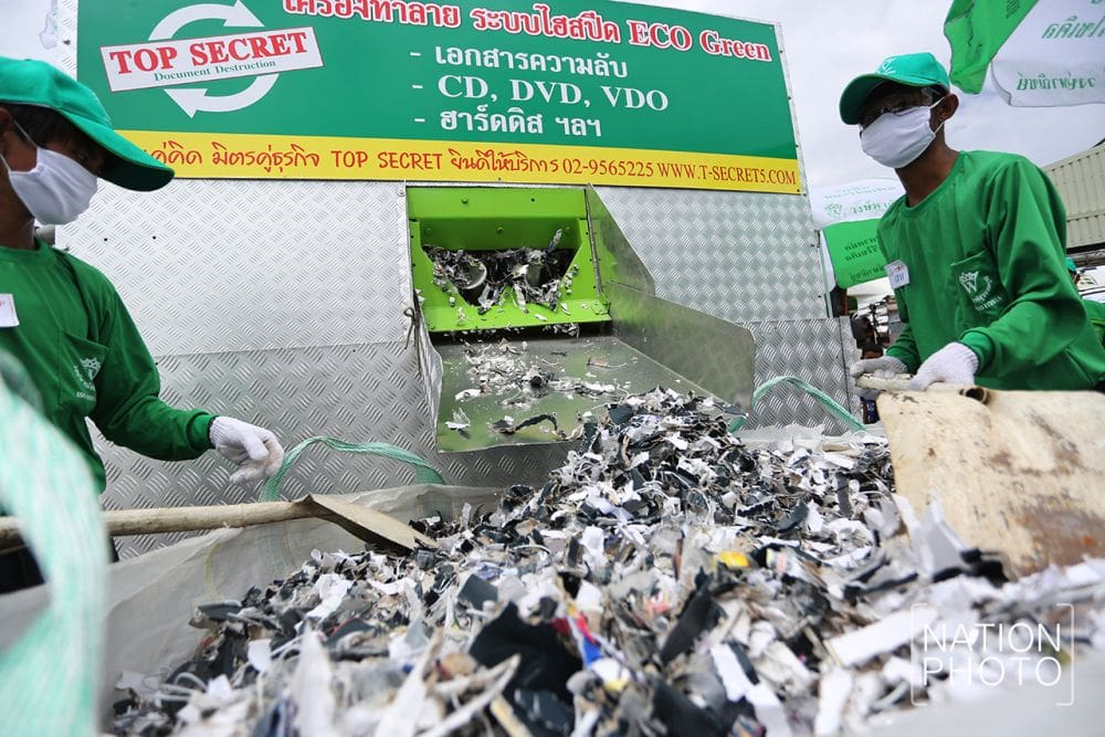 1.3 billion baht of fakes destroyed, overseen by Army chiefs | News by The Thaiger