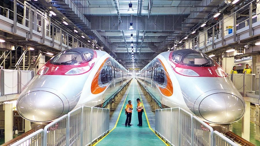 Fear and fanfare as Hong Kong launches China rail link