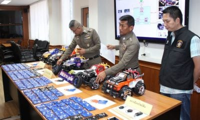 40,000 meth pills hidden in model cars | The Thaiger