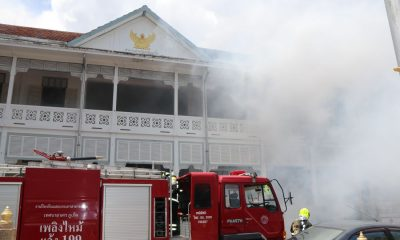 Officers and locals join in Phuket Provincial Hall fire drill   The Thaiger
