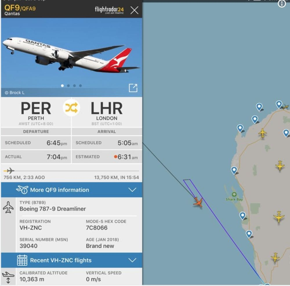 Disruptive passenger forces Qantas flight to return to Perth