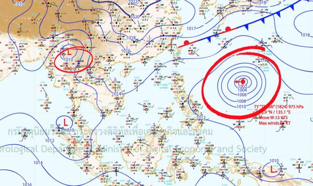 Weather warnings out for mid-week | News by The Thaiger
